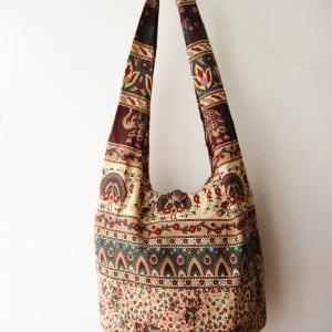 boho sling bag, tribal messenger ba..